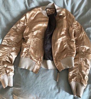 Zara Chaqueta bomber color oro-marrón oscuro