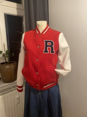 Orsay College Jacket red-white polyester