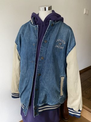 American Vintage College Jacket blue-oatmeal