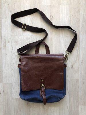 College Bag brown-dark blue