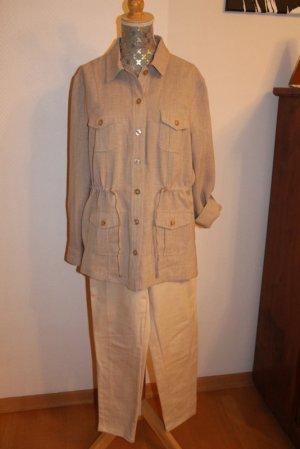 Collection L Trouser Suit oatmeal mixture fibre