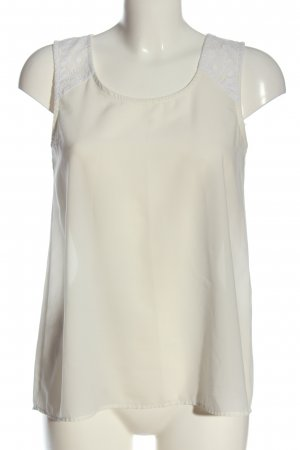 Collezione Sleeveless Blouse white-natural white Lace trimming