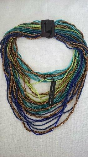 Collezione Alessandro Collana di perle multicolore Tessuto misto