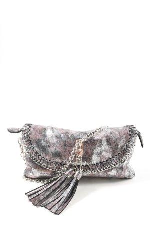 Collezione Alessandro Handbag light grey-brown abstract pattern casual look