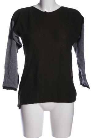 Collezione Gaia Crewneck Sweater brown-light grey flecked casual look