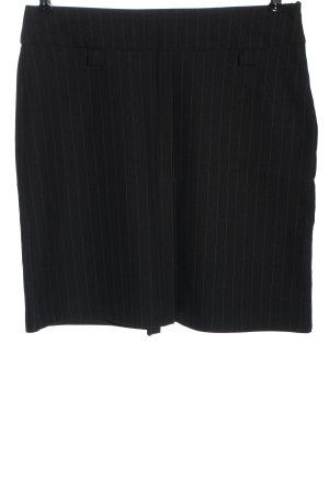 Collezione Miniskirt black-natural white striped pattern business style