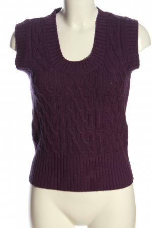 Collezione Knitted Vest lilac cable stitch casual look