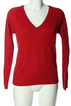 Collezione Maglione con scollo a V rosso stile casual