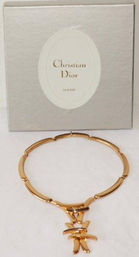 Christian Dior Naszyjnik piaskowy brąz Metal