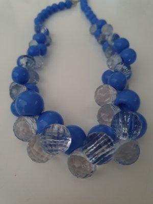 Colliers ras du cou bleu fluo-bleu