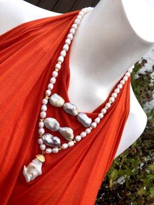 Collier Designer Barock Perlen Kette Unikat