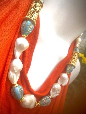 Collier Designer Luxus Barock Perlen Unikat