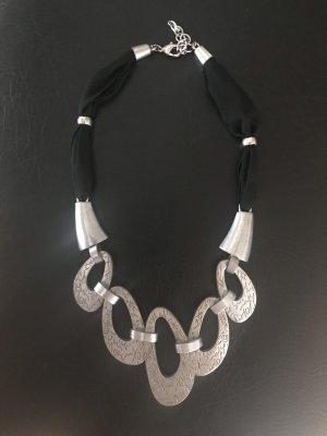 Collier Necklace black-silver-colored