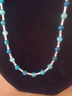 Collar estilo collier azul cadete-gris claro