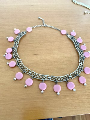 Collier argento-rosa