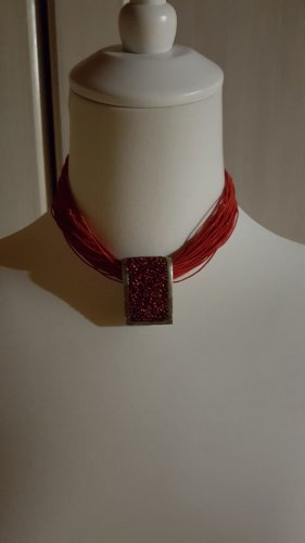 Collier/Tracht in rot Länge 37-43cm