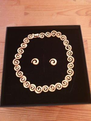 keine Marke Collier Necklace gold-colored mixture fibre