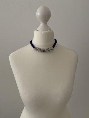 Pierre Lang Collier argento-blu