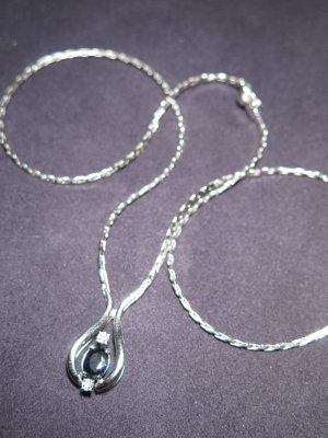 Collier Necklace white real gold
