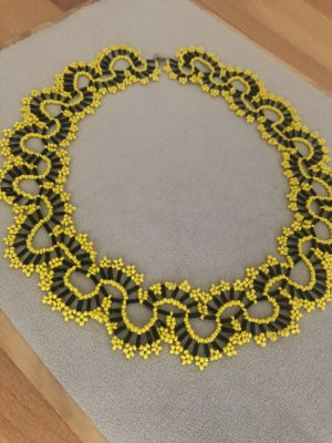 Collier Necklace black-yellow