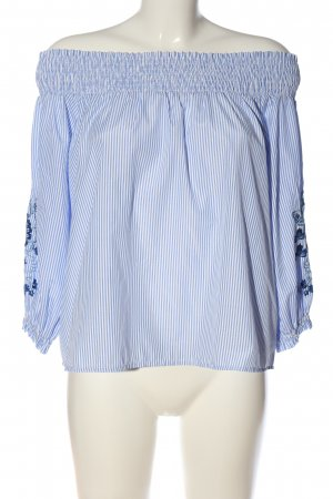 Colloseum Carmen-Bluse blau-weiß Blumenmuster Casual-Look