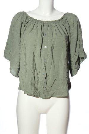 Colloseum Carmen blouse khaki casual uitstraling