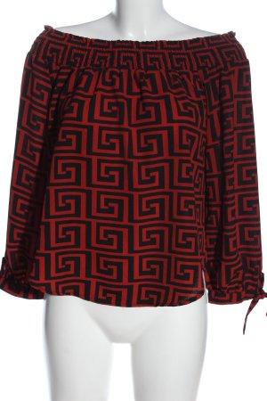 Colloseum Carmen Blouse red-black allover print casual look