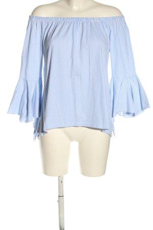 Colloseum Carmen blouse blauw-wit gestreept patroon casual uitstraling