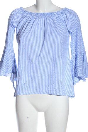Colloseum Carmen shirt blauw-wit gestreept patroon zakelijke stijl
