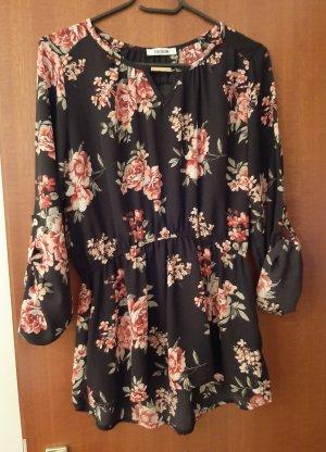 Colloseum Chiffon Bluse Tunika Shirt Top Floral Blumen Blümchen geblümt