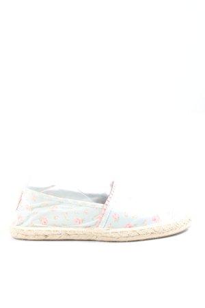 Colloseum Espadrille Sandals blue-pink flower pattern casual look