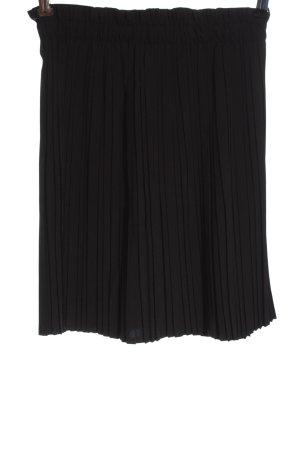 Colloseum Plooirok zwart gestippeld casual uitstraling
