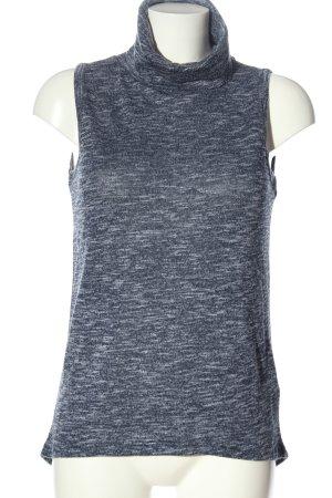 Colloseum Sweter bez rękawów z cienkiej dzianiny niebieski Melanżowy