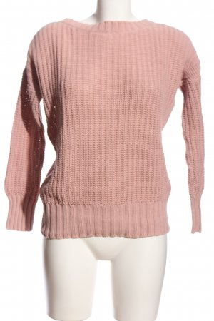 Colloseum Crochet Sweater pink casual look