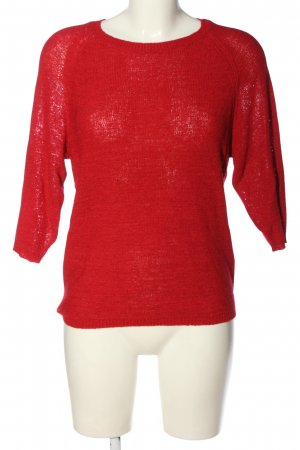Colloseum Crochet Sweater red casual look