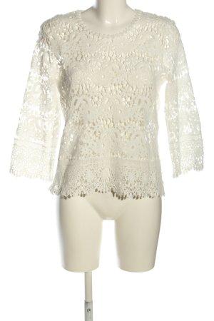 Colloseum Gehaakt shirt wit elegant