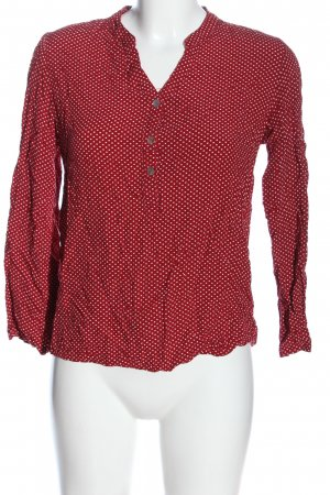 Colloseum Camicia blusa rosso-bianco stampa integrale stile casual