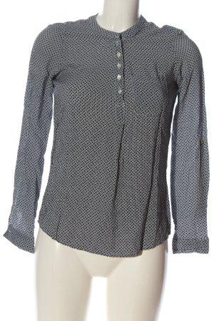 Colloseum Camicia blusa nero-bianco stampa integrale stile casual