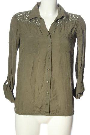 Colloseum Camicia blusa cachi stile casual