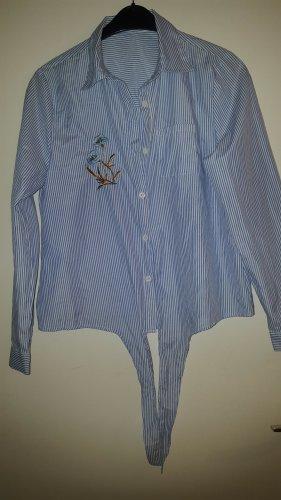 Colloseum Camicia blusa bianco-blu scuro Tessuto misto