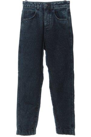 Colloseum Jeans a vita alta blu stile da moda di strada