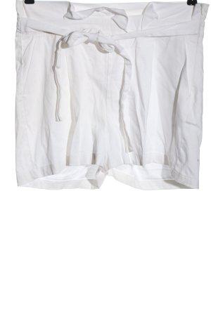 Colloseum Pantalón corto de talle alto blanco look casual