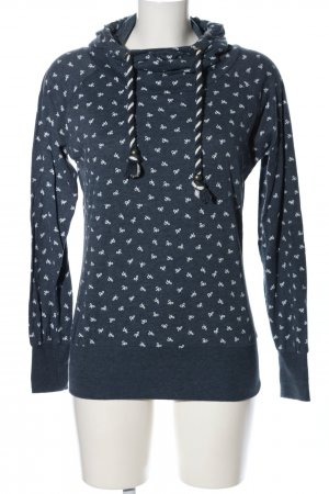 Colloseum Hooded Sweatshirt blue-white allover print casual look