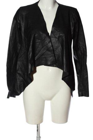 Colloseum Kurtka z imitacji skóry czarny W stylu casual