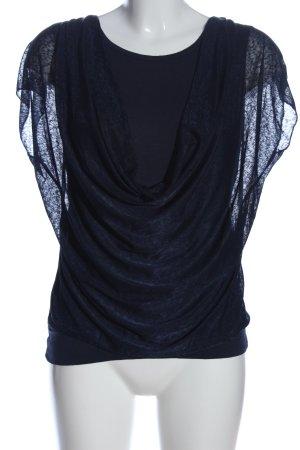 Colloseum Kurzarm-Bluse blau Casual-Look