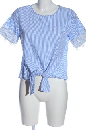 Colloseum Camicetta a maniche corte blu-bianco motivo a righe stile casual