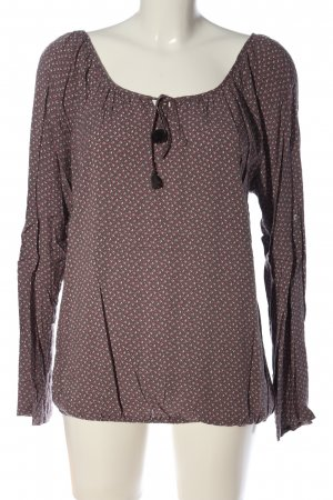 Colloseum Langarm-Bluse Allover-Druck Casual-Look