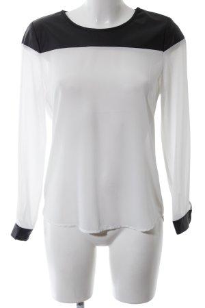 Colloseum Langarm-Bluse weiß-schwarz Casual-Look