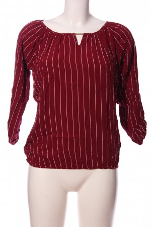 Colloseum Langarm-Bluse rot-weiß Streifenmuster Casual-Look