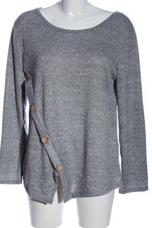 Colloseum Camicetta a maniche lunghe grigio chiaro puntinato stile casual